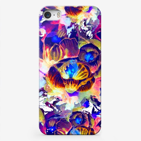 Чехол iPhone «Абстрактная акварельная текстура»