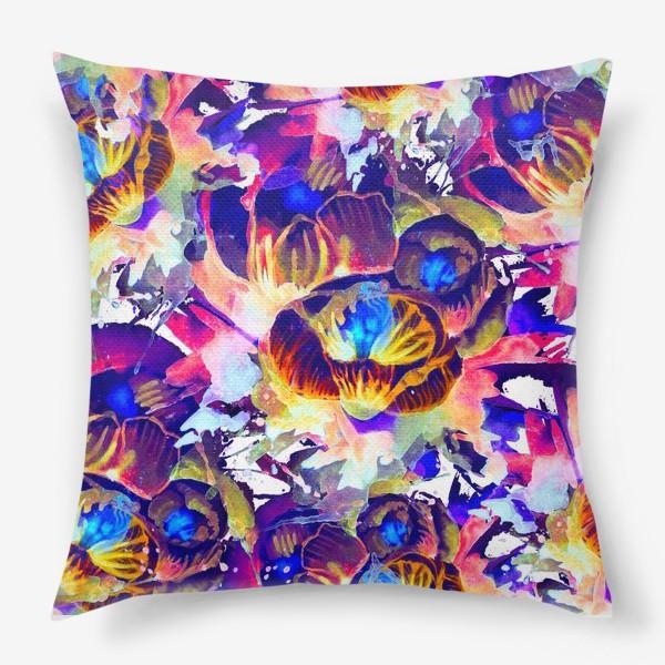 Подушка «Абстрактная акварельная текстура»