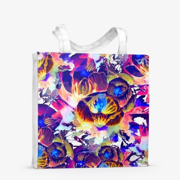 Сумка-шоппер «Абстрактная акварельная текстура»