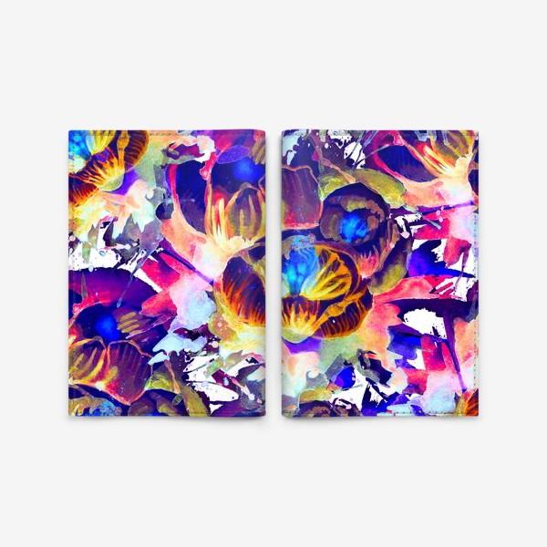 Обложка для паспорта «Абстрактная акварельная текстура»