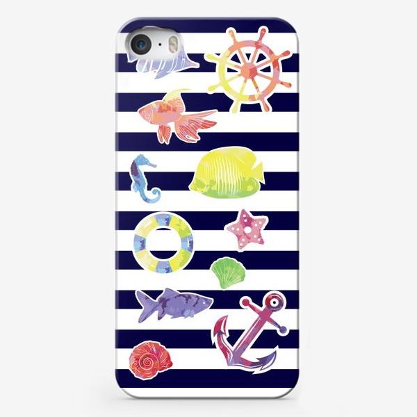 Чехол iPhone «В мире морском 3»