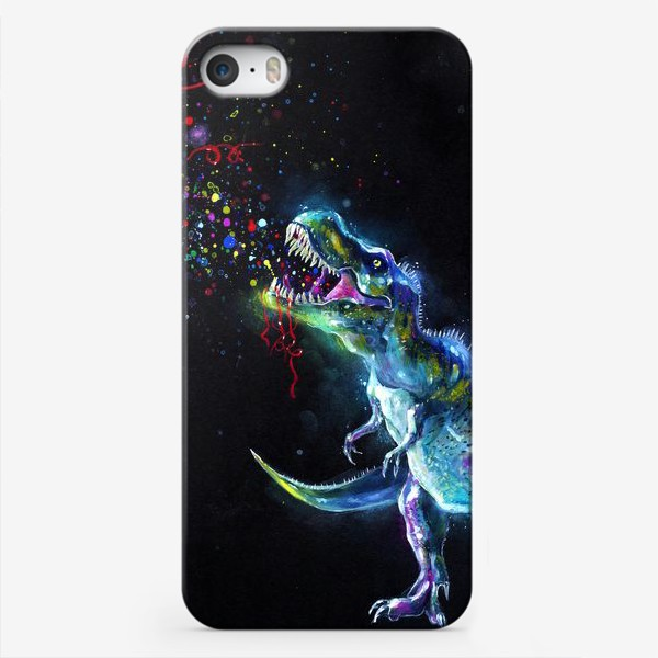Чехол iPhone «Crystal T-Rex in Space»