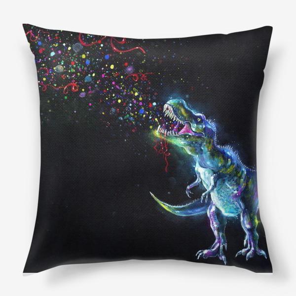 Подушка «Crystal T-Rex in Space»