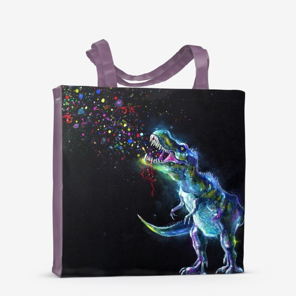 Сумка-шоппер «Crystal T-Rex in Space»