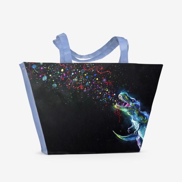 Пляжная сумка «Crystal T-Rex in Space»