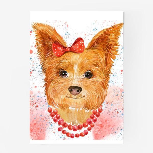 Постер «собака акварель»