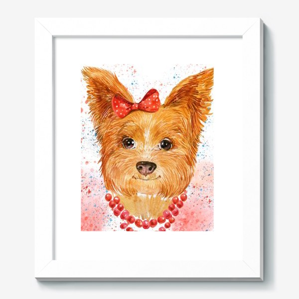 Картина «собака акварель»