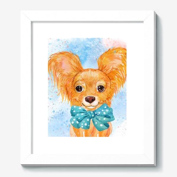 Картина «собака той-терьер.акварель»