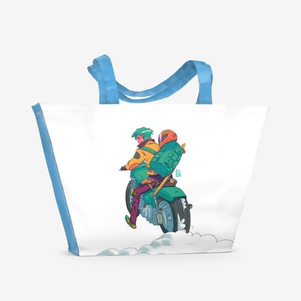 Пляжная сумка «Байкер»