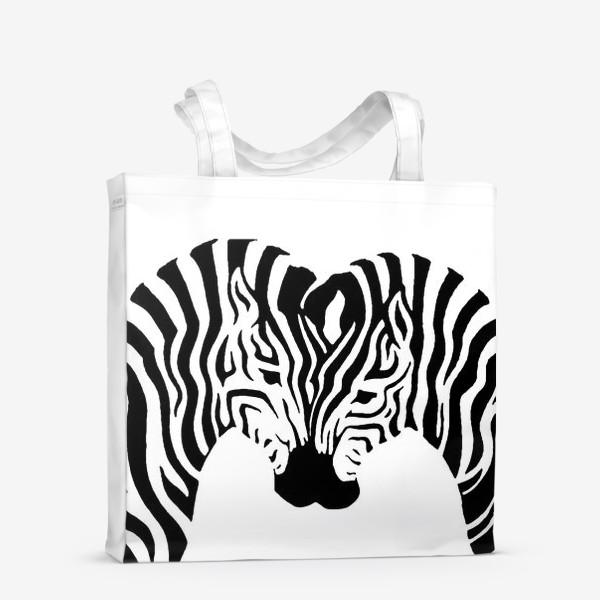 Сумка-шоппер «Зебры »
