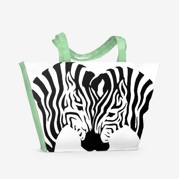 Пляжная сумка «Зебры »