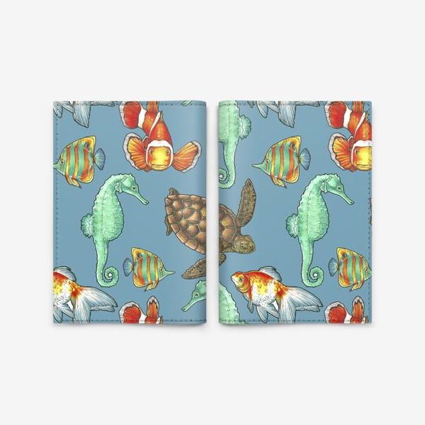 Обложка для паспорта «рыбки 2»