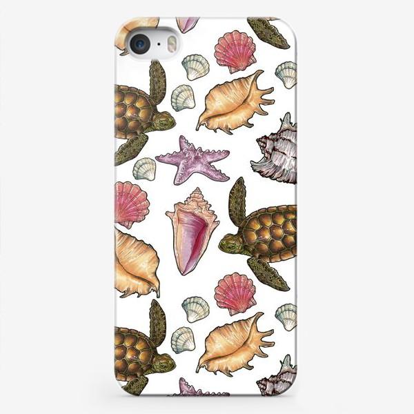 Чехол iPhone «Черепаха и ракушки»