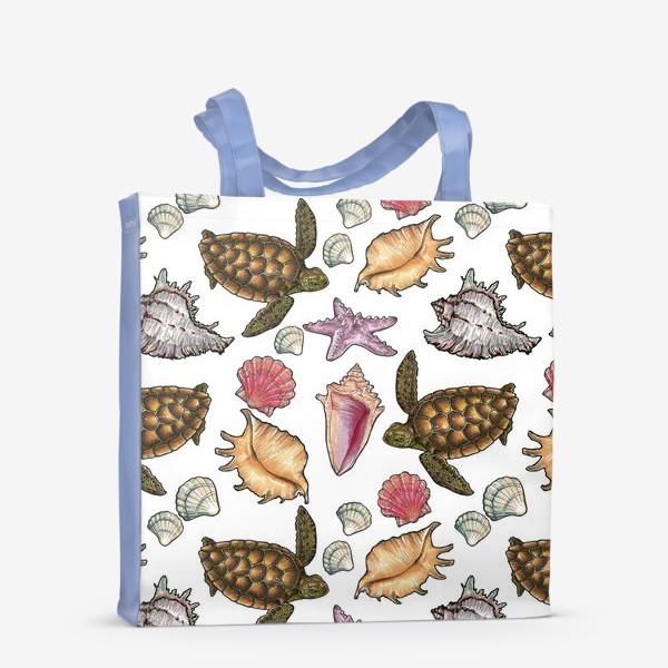 Сумка-шоппер «Черепаха и ракушки»