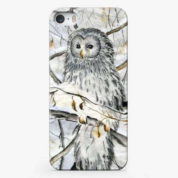 """Чехол iPhone «""""Серия с птицами.Белый филин"""".»"""