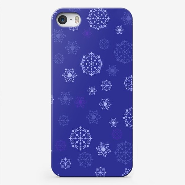 Чехол iPhone «снежинки»