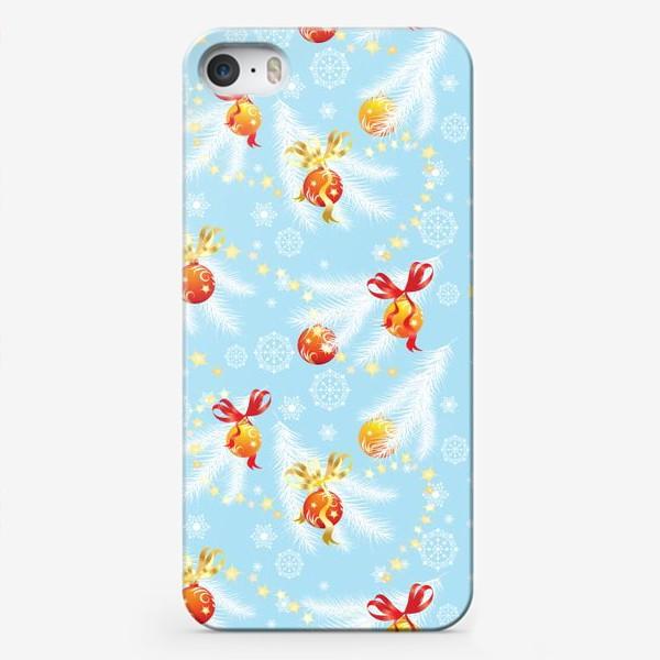 Чехол iPhone «елочные шары»