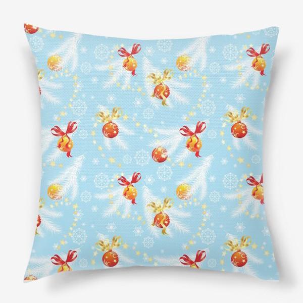 Подушка «елочные шары»