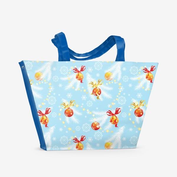 Пляжная сумка «елочные шары»