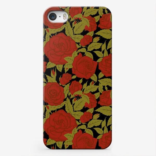 Чехол iPhone «красные розы»