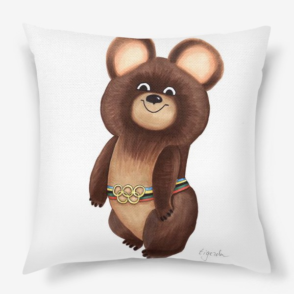 Подушка «Олимпийский мишка»