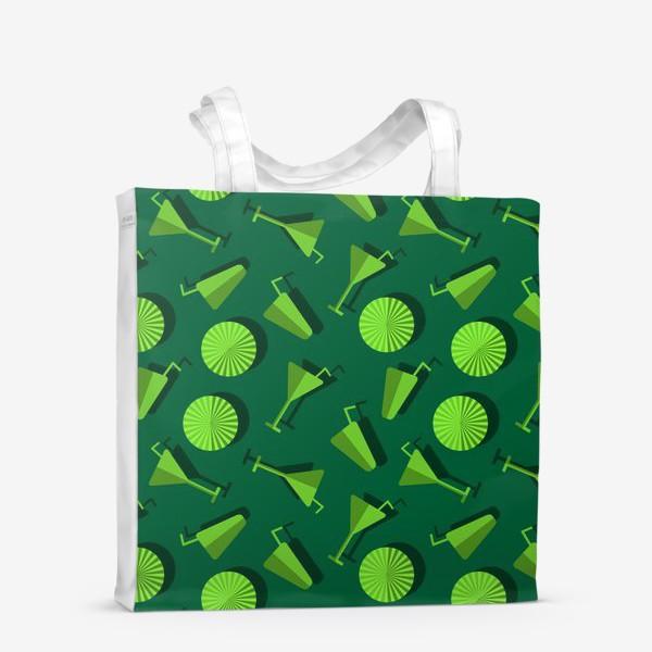 Сумка-шоппер «Коктель и  зонтики»