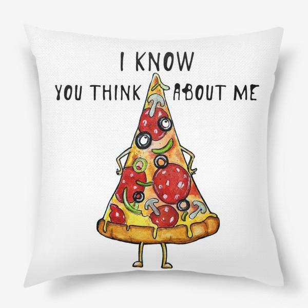 Подушка «Уверенная в себе Пицца »