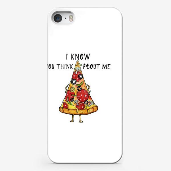 Чехол iPhone «Уверенная в себе Пицца »