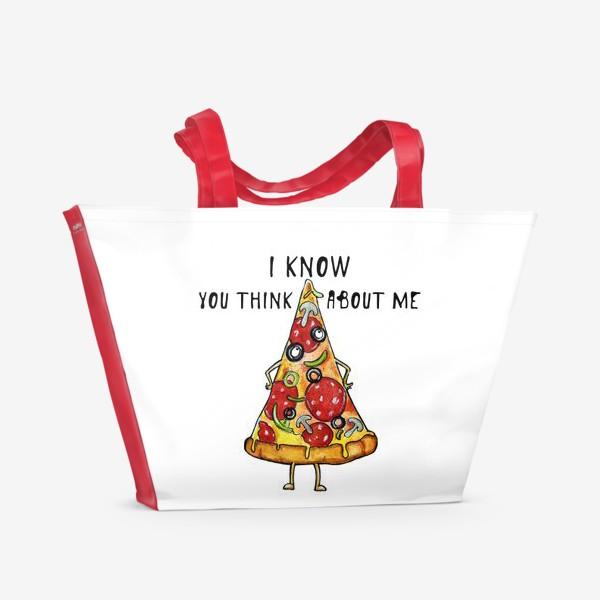 Пляжная сумка «Уверенная в себе Пицца »