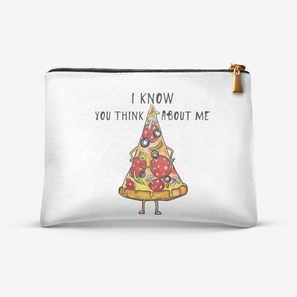 Косметичка «Уверенная в себе Пицца »