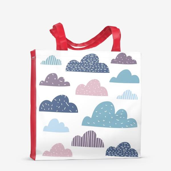 Сумка-шоппер «Разноцветные тучки»
