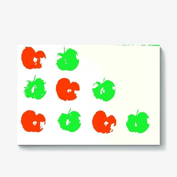 Холст «Осень. Сбор урожая. Яблоки.»