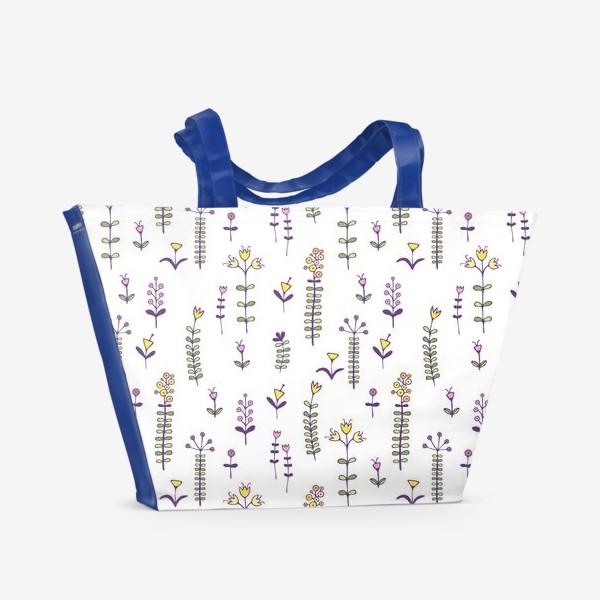 Пляжная сумка «Милые цветочки»
