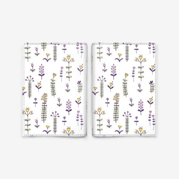 Обложка для паспорта «Милые цветочки»