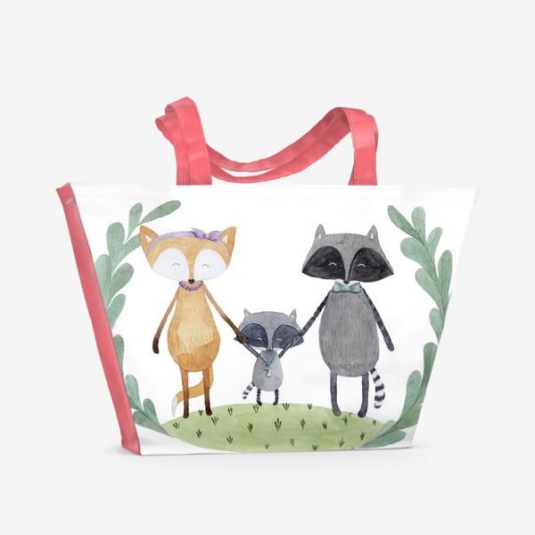 Пляжная сумка «Семья»