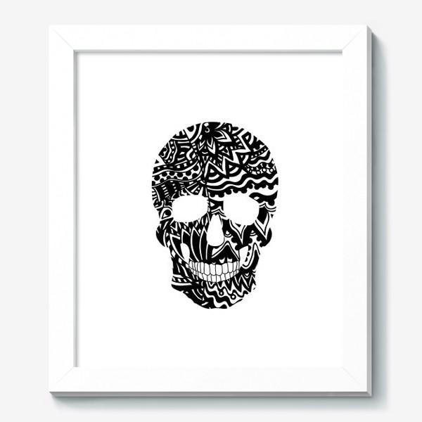 Картина «Black Ornamental Skull»
