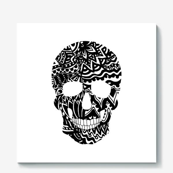 Холст «Black Ornamental Skull»