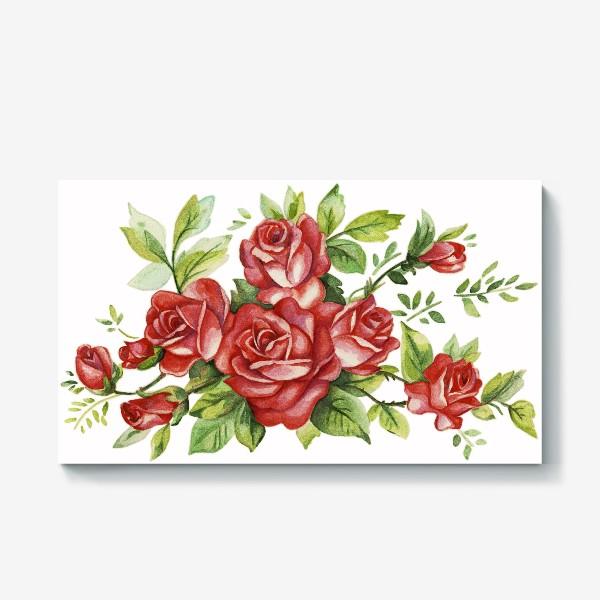 Холст «Алые розы»