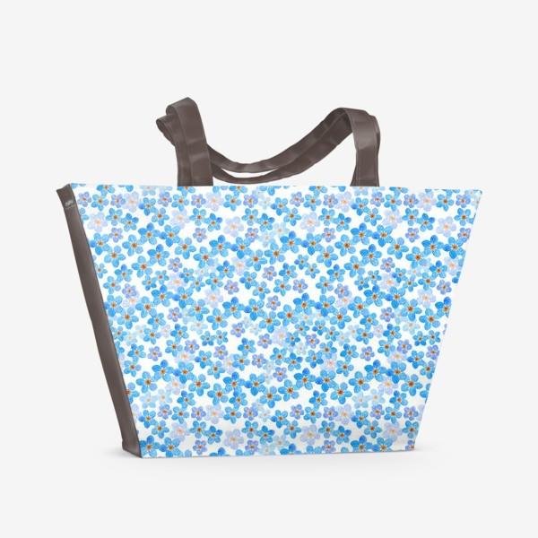 Пляжная сумка «Незабудки»