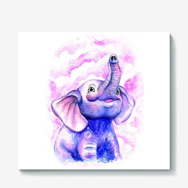 Холст «A cute elephant»