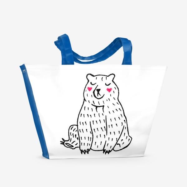 Пляжная сумка «Скромный мишка»
