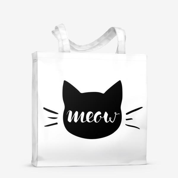 Сумка-шоппер «Чёрная кошка. Cat meow»