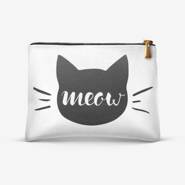 Косметичка «Чёрная кошка. Cat meow»