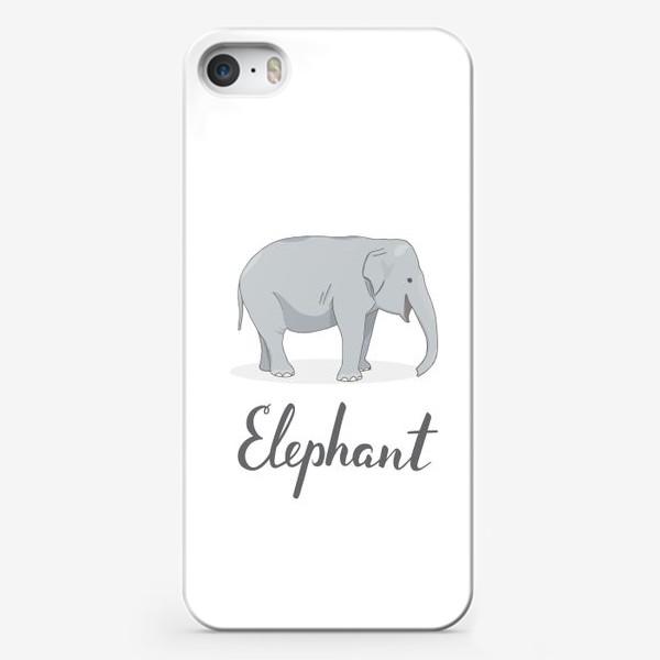 Чехол iPhone «Довольный слон»