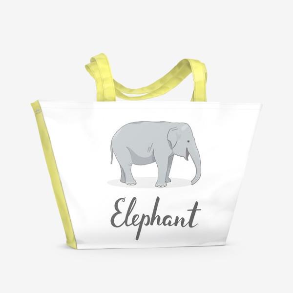 Пляжная сумка «Довольный слон»