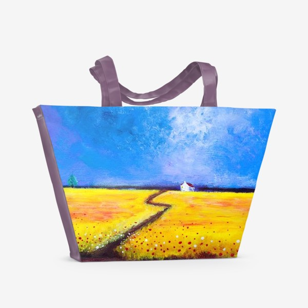Пляжная сумка «Маки перед дождем»