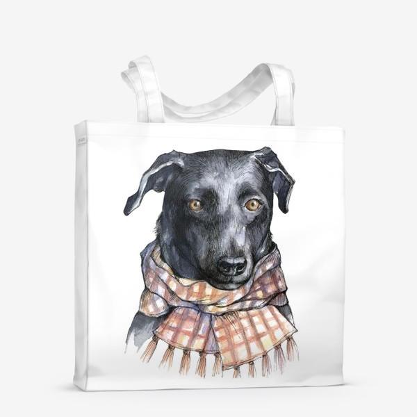 Сумка-шоппер «Собака и шарф»