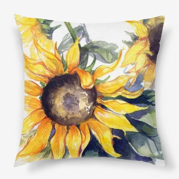 Подушка «Sunflowers»