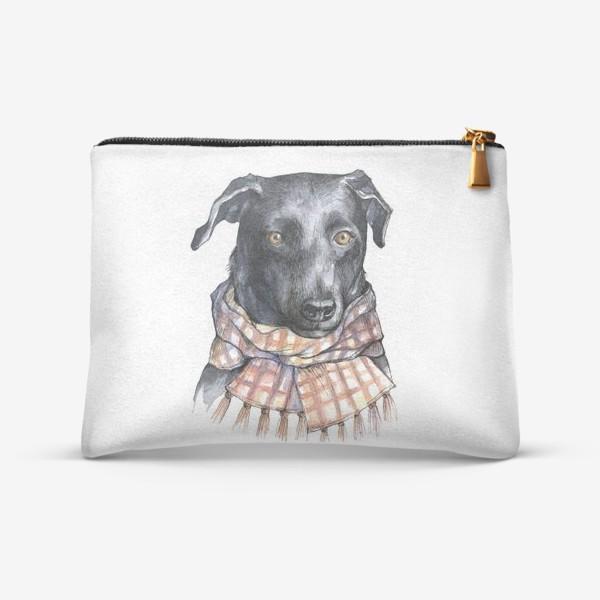 Косметичка «Собака и шарф»
