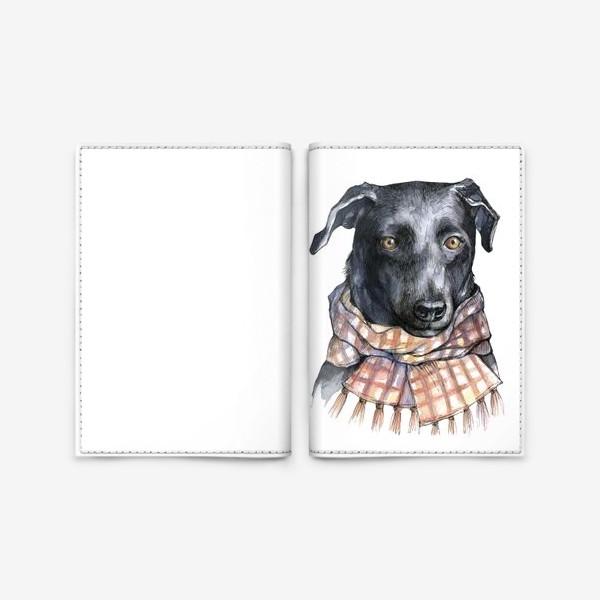Обложка для паспорта «Собака и шарф»